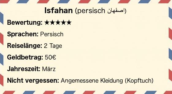 Postkarte Isfahan