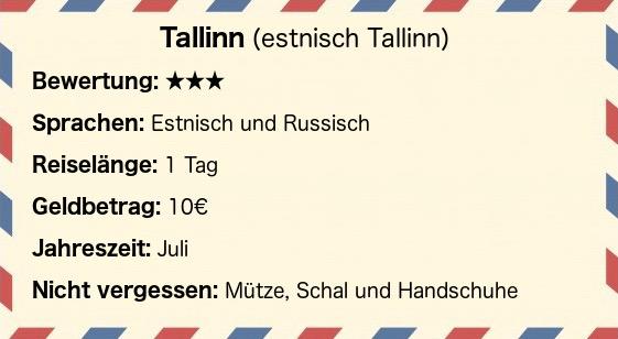 Postkarte Tallinn
