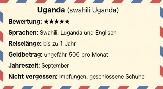 Postkarte Uganda