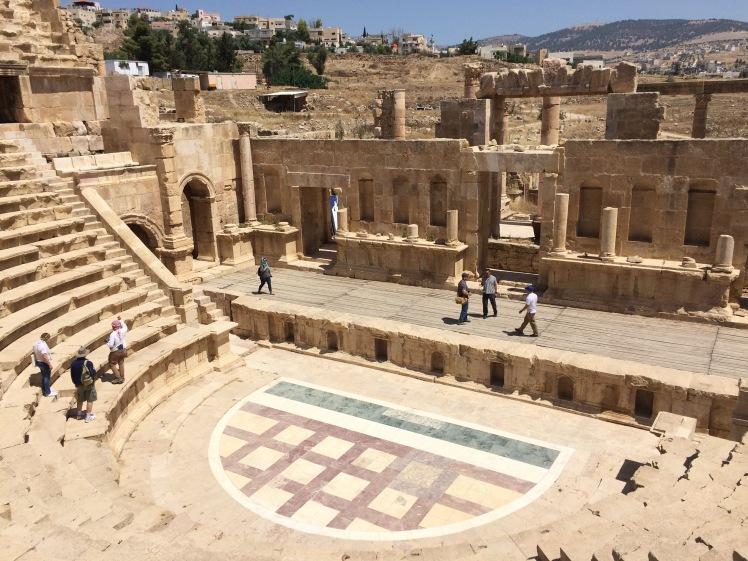 Theater Jerash Jordanien Rundreise