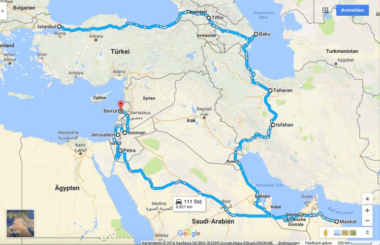 Westasien Reise